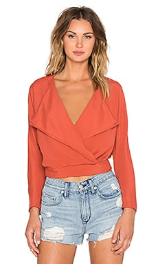 Lovers + Friends x REVOLVE Effortless Wrap Top in Burnt Orange