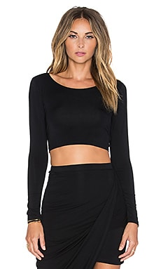 Lovers + Friends Imperial Crop Top in Black
