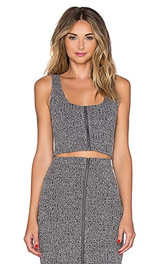 Lovers + Friends Downtown Top en Gris Chiné