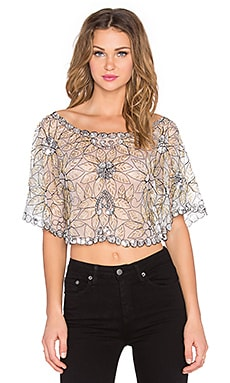Lovers + Friends Starry Night Crop Top in Multi