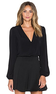 x REVOLVE Vision Long Sleeve Bodysuit in Black