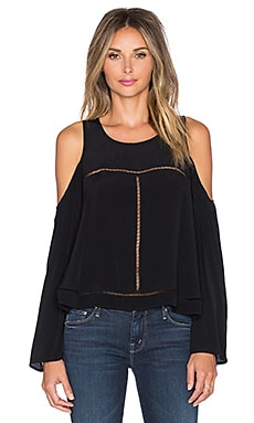 Lovers + Friends Cloud Break Top in Black