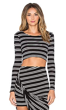 Lovers + Friends Imperial Crop Top in Stripe