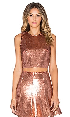 Lovers + Friends x REVOLVE Shake It Crop Top in Rose Bronze
