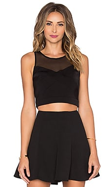 Lovers + Friends Stormy Crop Top in Black
