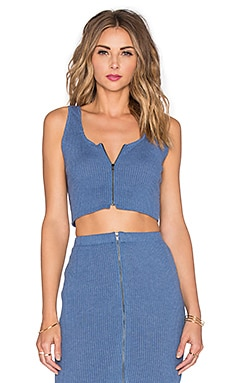 Lovers + Friends x REVOLVE Downtown Top en Bleu clair