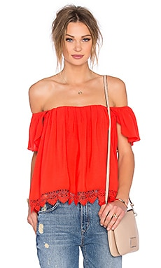 Lovers + Friends x REVOLVE Life's A Beach Top en Rouge Orangé