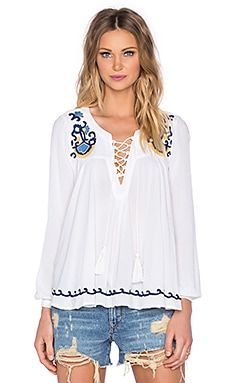 Lovers + Friends Athens Top in Ivory