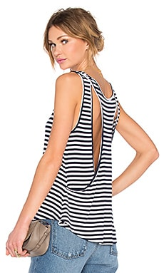 Lovers + Friends Macy Tank in Navy Stripe