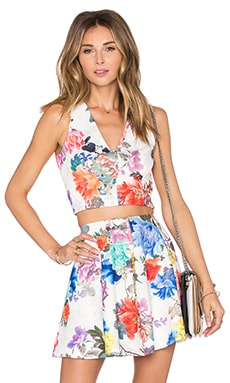 Lovers + Friends x REVOLVE Geneva Crop Top in White Floral