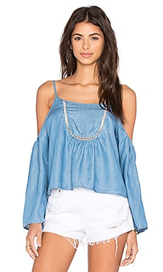 Lovers + Friends Coastal Love Top in Ocean