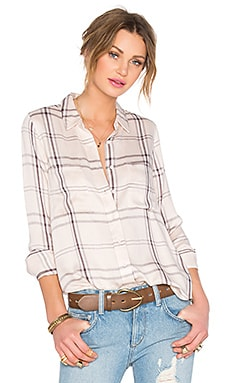 Lovers + Friends Teen Spirit Button Up in Nude Plaid