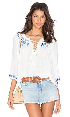 Lovers + Friends Marine Top in Ivory