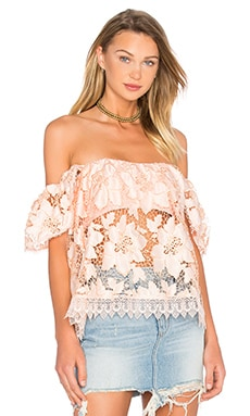Lovers + Friends Life's A Beach Top in Papaya
