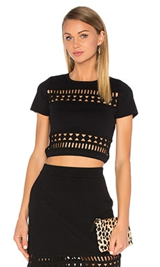 Lovers + Friends Mosaic Top in Black