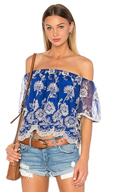 Sunbathe Top in Marine Blue