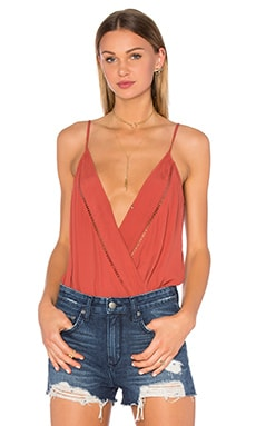 Vision Cami Bodysuit in Rust