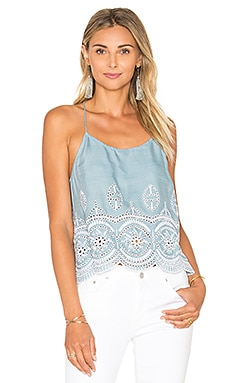 Lovers + Friends Baciami Top in Light Wash