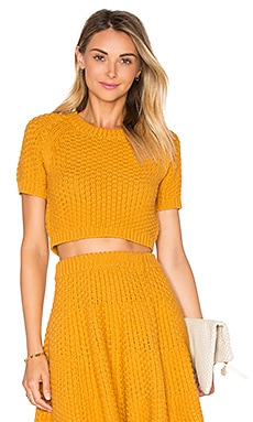 Lovers + Friends Be Flirty Crop Top in Marigold