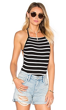 Love Life Bodysuit in Black Stripe