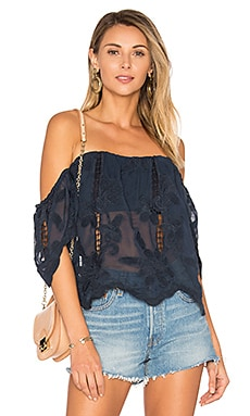 Life's A Beach Top in Navy