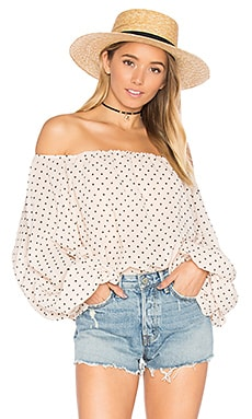 x REVOLVE Dahlia Blouse in Star Print