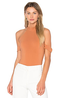 x REVOLVE Ring Leader Bodysuit in Rust