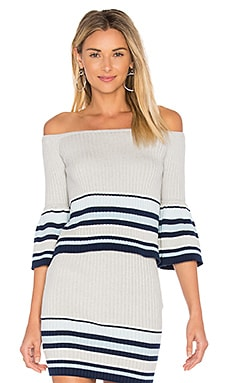 Skye Top in Navy Border Stripe