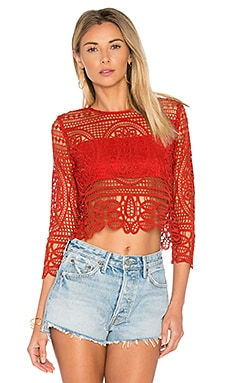 Night Bloom Top in Red