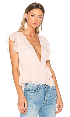 x REVOLVE Butterfly Blouse en Blush