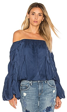 x REVOLVE Laura Blouse in Azure