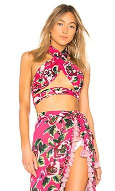 Купить Укороченный топ с ремешком через шею lady - Lovers + Friends розового цвета