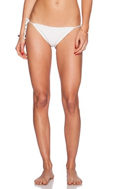 Lovers + Friends Candid Bikini Bottom in White