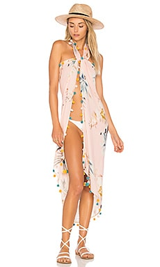 x REVOLVE Follow Me Pareo in White Tropics