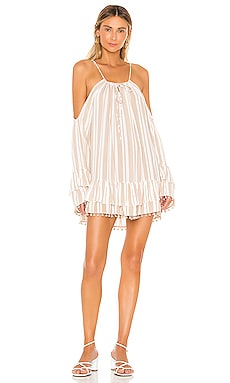 x REVOLVE Tropical Oasis Dress in Nude Stripe
