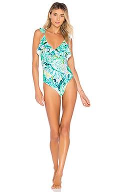 Купить Слитный купальник tropical oasis - Lovers + Friends, Слитные купальники, Китай, Зеленый