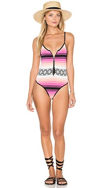 Lovers + Friends Melody One Piece in Desert Stripe