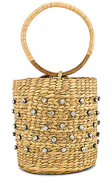 Athena Straw Bag Lovers + Friends $125