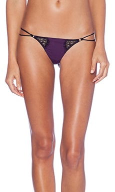 Love Haus by Beach Bunny Neo Geo Thong in Eggplant