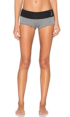 Love Haus by Beach Bunny Barely There Short in Charcoal & Black