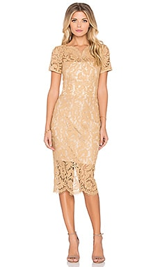Lover Empire Midi Dress in Camel