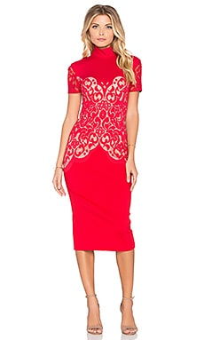 Lover Galaxy Fitted Dress in Crimson