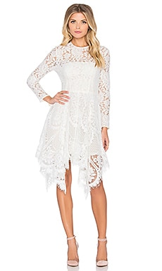 Lover Halo Hankey Mini Dress in Snow