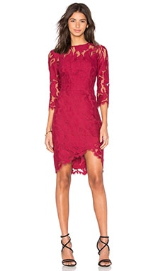 Arizona Asymmetric Dress in Cherry