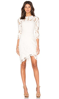 Arizona Asymmetric Dress in Ivory