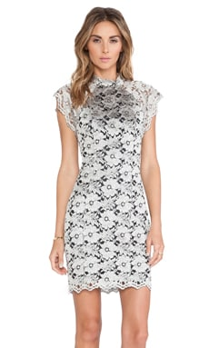 Lover Neptune Short Sleeve Dress in Silver