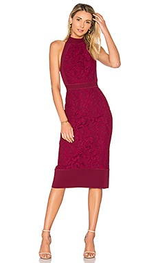 Violet Fitted Halter Dress en Prune
