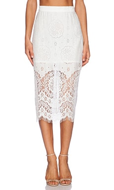 Lover Heather Pencil Skirt in Ivory