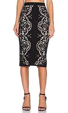 Lover Reflection Pencil Skirt in Black