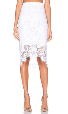 Lover Oasis Pencil Skirt in White
